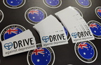 Bulk Custom Printed Contour Cut Die-Cut Drive Against Depression Vinyl Business Stickers