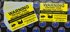 Custom Printed Contour Cut Warning Tow Away Zone Vinyl Business Stickers and Corflute Sign