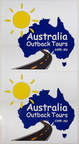 Custom Printed Contour Cut Australia Outback Tours Vinyl Business logo Stickers