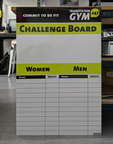 Custom Printed Dry Erase ACM Train Station 247 Gym Challenge Board Business Whiteboard