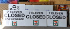 Custom Printed 7 Eleven Closed For Upgrade ACM Business Signage