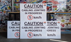 Custom Printed Corflute Caution Cabling Jointing in Progress Speed Business Signage