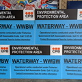 Custom Printed Corflute CPB Contractors Environmental Protection Area Business Signage