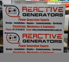 Custom Printed ACM Reactive Generators Business Signage