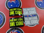 Custom Printed Reflective and White Pull Out Steps S.W.L. Vinyl Business Stickers