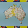 Catalogue Printed Australia Map Rectangle Vinyl Sticker