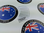 Custom Inverted Printed Silver Metallic Contour Cut Diamond Plate Protection Vinyl Business Stickers