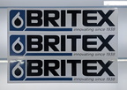 Custom Printed Contour Cut Britex Vinyl Lettering Business Logo Panel Stickers.