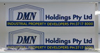 Custom Printed Contour Cut DMN Holdings Vinyl Business Stickers