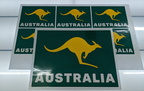 Custom Printed Contour Cut Vinyl Australia Kangaroo Business Stickers
