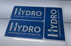 Custom Printed Contour Cut Hydro Construction Products Vinyl Business Logo Stickers