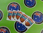 Catalogue Printed Contour Cut Vinyl Alice Springs Uluru Shield Stickers