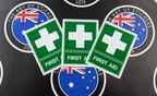 Catalogue Printed Contour Cut Die Cut First Aid Vinyl Stickers