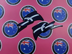 Catalogue Printed Contour Cut Die-Cut Eureka Flag Wave Vinyl Sticker