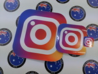 Catalogue Printed Contour Cut Die Cut Vinyl Instagram Stickers
