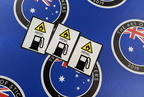 Catalogue Printed Contour Cut Die Cut Warning Diesel Fuel Flammable Vinyl Business Stickers