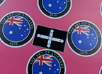 Catalogue Printed Contour Cut Die-Cut Eureka Flag Vinyl Sticker