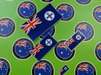 Catalogue Printed Contour Cut Die-Cut Qld State Flag Vinyl Stickers