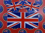 Catalogue Printed Contour Cut-Die Cut United Kingdom Vinyl Flag Stickers