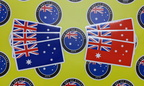 Catalogue Custom Printed Contour Cut Die-Cut Australia Flag Vinyl Stickers