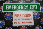 Catalogue Printed Contour Cut Die-Cut Emergency Exit Fire Door Vinyl Business Stickers