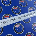 Custom Printed Contour Cut Fire Safety Door Vinyl Business Stickers