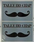Custom Printed Contour Cut Tally Ho Chap Vinyl Business Logo Stickers