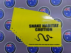 Bulk Custom Printed Contour Cut Die Cut Snake Habitat Vinyl Business Stickers