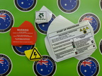 Bulk Custom Printed Contour Cut Die Cut Kennards Warning Safety Vinyl Business Stickers