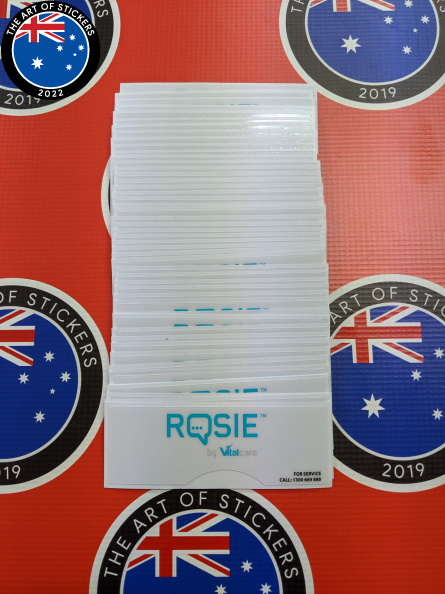 Bulk Custom Printed Heavy Duty Laminated Contour Cut Rosie By Vitalcare Vinyl Business Stickers