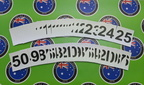 Bulk Custom Printed Matte Laminated Contour Cut Die Cut Sequential Number Vinyl Business Stickers