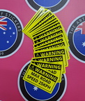 Bulk Custom Printed Contour Cut Die Cut Warning Max Road Speed Vinyl Business Stickers