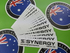 Bulk Custom Printed Contour Cut Die-Cut Synergy Engineering Vinyl Business Logo Stickers