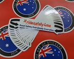 Bulk Custom Printed Contour Cut Die Cut Vinyl #Ridesafely4me Business Stickers