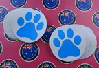 Bulk Custom Printed Matte Laminated Die Cut Paw Print Vinyl Business Stickers