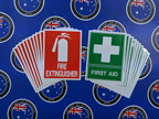 Bulk Catalogue Printed Contour Cut Die Cut Fire Extinguisher First Aid Vinyl Business Stickers