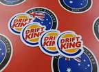 Catalogue Printed Contour Cut Die-Cut Drift King Vinyl Stickers