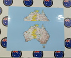 Catalogue Printed Contour Cut Map of Australia Panel Vinyl Stickers