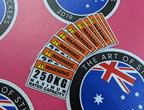 Catalogue Printed Contour Cut Die Cut Warning Max Rated Capacity Vinyl Business Stickers