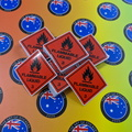Bulk Catalogue Printed Contour Cut Die Cut Flammable Liquid Vinyl Business Stickers