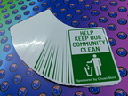 Bulk Custom Printed Contour Cut Die-Cut Community Clean Vinyl Business Stickers