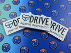 Bulk Custom Printed Contour Cut Die-Cut Drive Against Depression Vinyl Business Logo Stickers