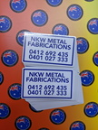 Bulk Custom Printed Contour Cut Die-Cut NKW Metal Fabrications Vinyl Business Stickers