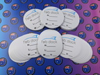 Bulk Custom Printed Contour Cut Die-Cut Fabdock Specification Vinyl Business Sticker Labels