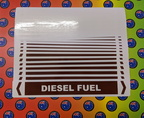 Bulk Custom Printed Contour Cut Die-Cut Diesel Fuel Pipe Markers Vinyl Business Stickers