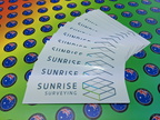 Bulk Custom Printed Contour Cut Die Cut Sunrise Surveying Vinyl Business Logo Stickers