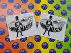 Custom Printed Clear Contour Cut The Ring Master Vinyl Business Logo Stickers