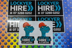 Custom Printed Contour Cut Lockyer Hire Vinyl Business Logo Stickers