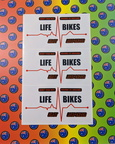 Custom Printed Contour Cut Life Bikes First Responder Vinyl Business Stickers