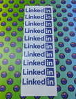 Custom Printed Contour Cut Linkedin Vinyl Business Logo Stickers